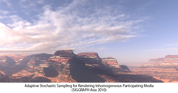Adaptive Stochastic Sampling for Rendering Inhomogeneous Participating Media(SIGGRAPH Asia 2010)